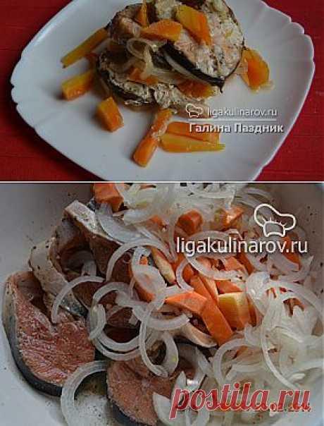 Рыба в фольге с морковью и луком, рецепт пошаговый от Лиги Кулинаров. Рецепт рыбы в фольге с морковью и луком, рецепты Лиги Кулинаров.