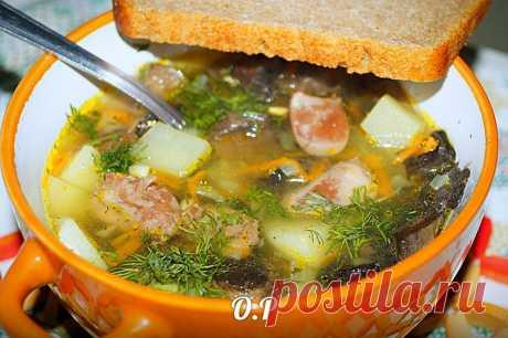 Готовим ароматный грибной суп с лесными грибами и куриными сердечками Вся семья в восторге!