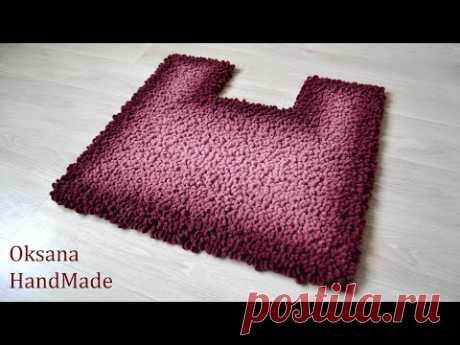 Коврик из Alize Puffy Fine Ombre Batik. - YouTube