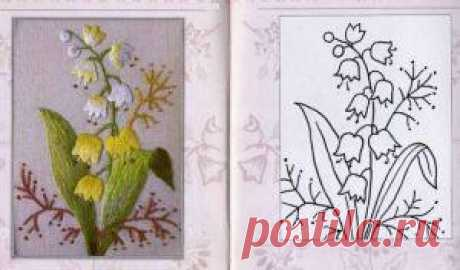 Вышивка гладью цветов по схемам с пошаговым описанием процесса
