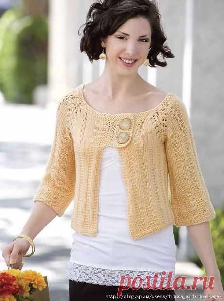 Sunshine Cardigan (Creative Knitting 2009-09).