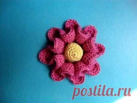 Цветы вязаные крючком Урок 41 Crochet flower pattern for free