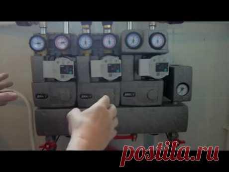 Запуск системы отопления Продувка радиаторов Заливка системы теплоносителем