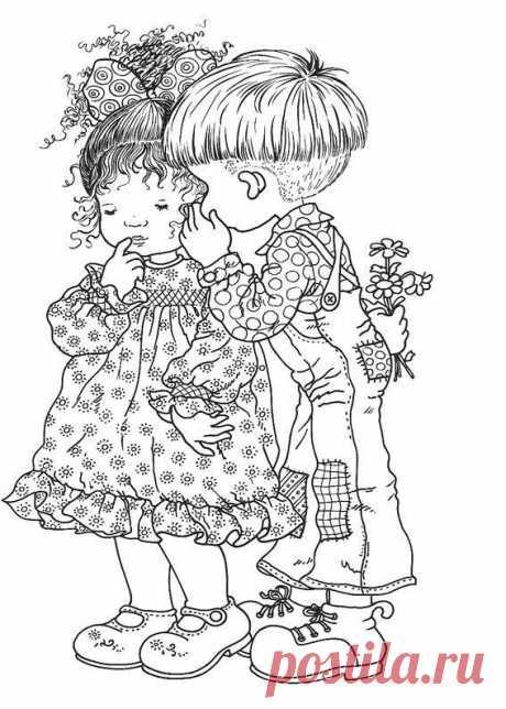 11 трафаретов с романтичными малышками для аппликации или раскрашивания - Сам себе волшебник