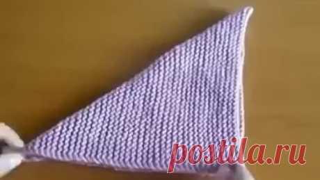 Простые тапочки из вязаного квадрата