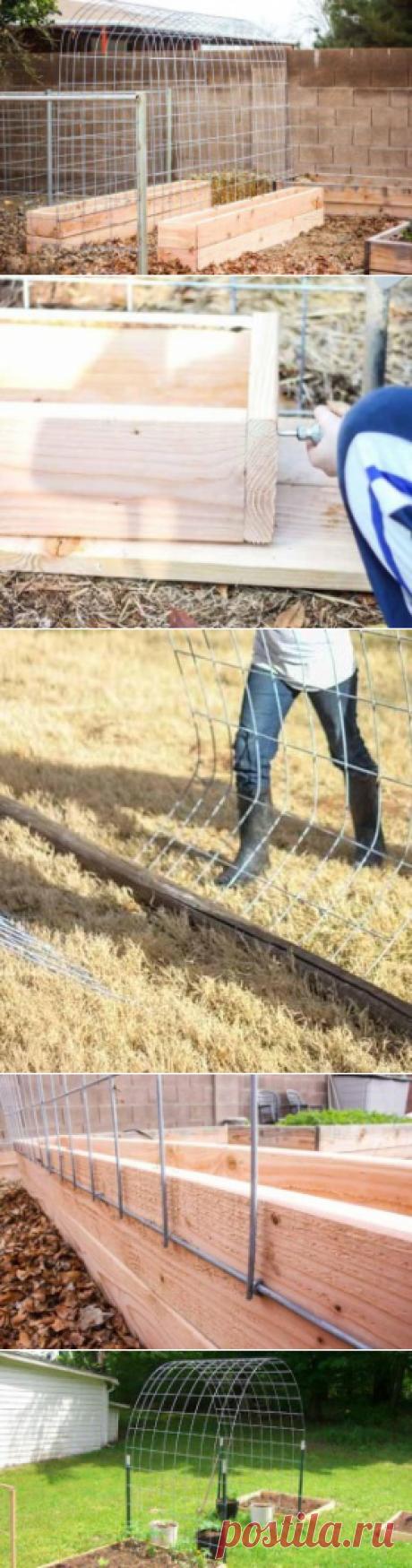 Арка - шпалера для огурцов своими руками | Сад 365