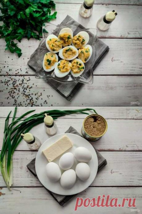 Яйца фаршированные икрой минтая | Вкусные кулинарные рецепты