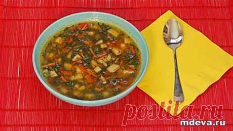 Щи из молодой крапивы. Вегетарианский суп