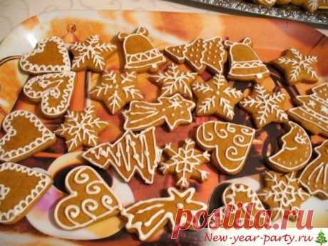 Новогодние имбирные пряники на Елку, фото-рецепт и роспись