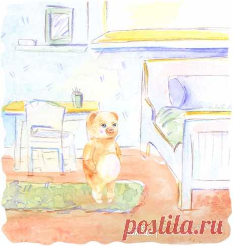 Детская именная сказка | Детская комната | Акварель | Лес Солнца | Lessolnca.ru