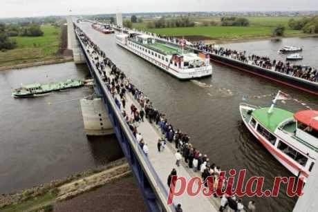 Германия. Река над рекой: Магдебургский водный мост
