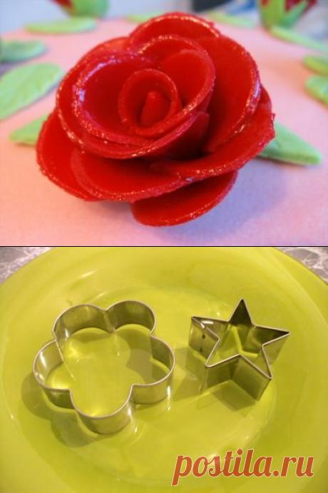 Розочки из мастики : Торты (украшения шаг за шагом)