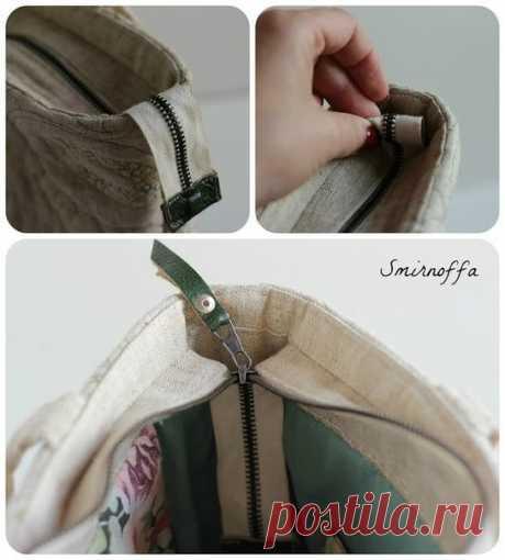 Как вшить молнию в сумку