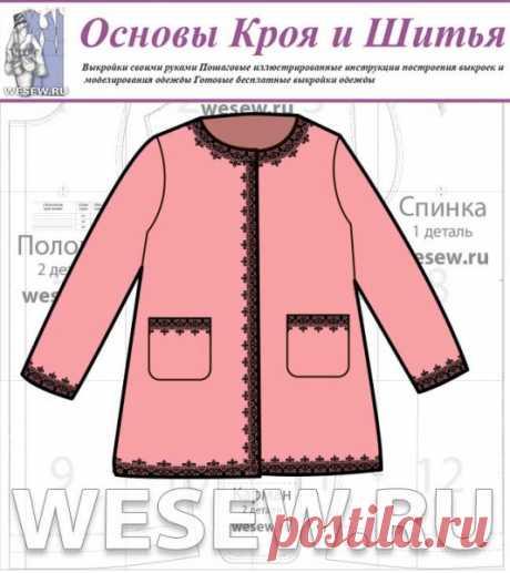 Выкройка нарядного пальто для девочек