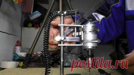 Как сделать миниатюрный сверлильный станок