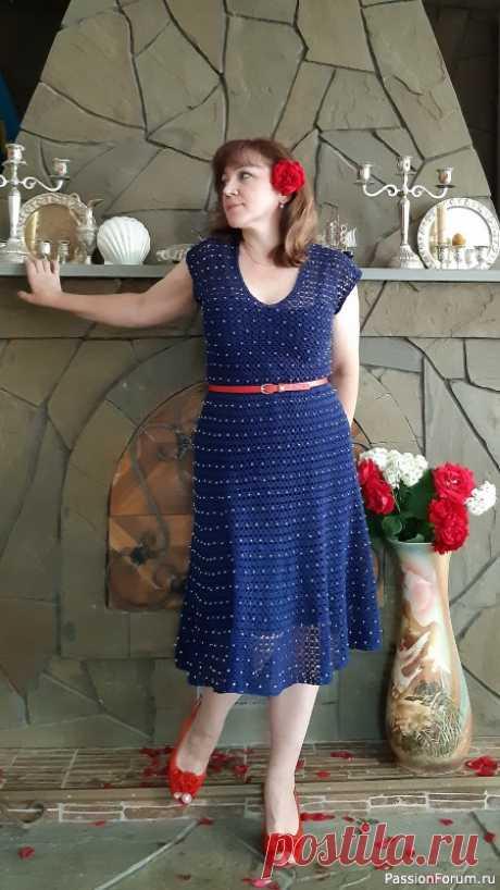 Платье Nostalgie, вязание с бусинами | Вязание крючком. Ваши работы