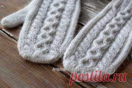 Варежки «Зимняя рапсодия» (вязание, схемы и фото) - Irena Handmade