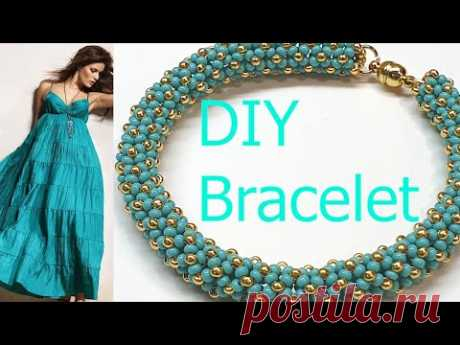 Bracelet/Beaded bracelet/Diy bracelet/Chenille Stitch/Браслет из бисера/Жгут из бисера иглой