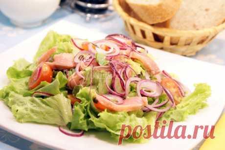 Салат с солёной красной рыбой – Рецепт с фото. Рецепты. Салаты. Салаты с рыбой и морепродуктами