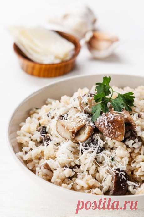 Грибное ризотто — Sloosh – кулинарные рецепты