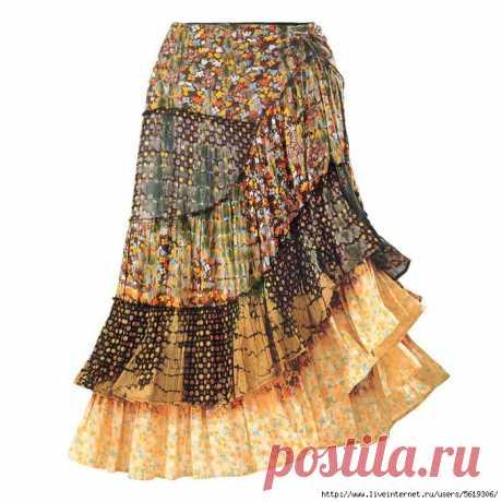 El estilo querido boho. Las faldas.