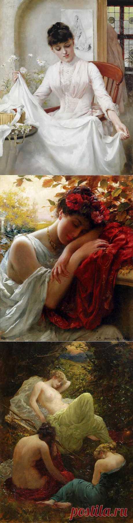 Английский художник Thomas Benjamin Kennington (1856-1916) :: NoNaMe