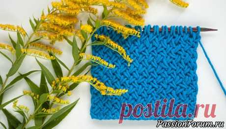 Узор Плетенка. Видео и схема вязания | Вязание спицами