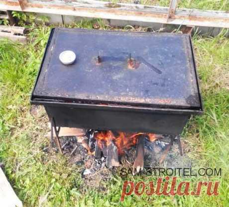 Коптильня горячего копчения своими руками (21 фото изготовления)