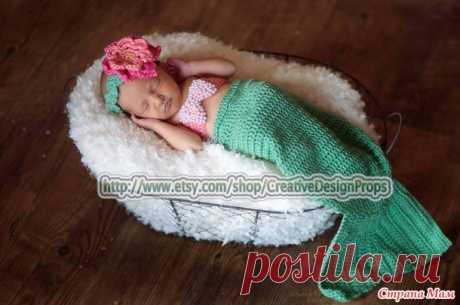 Русалочка и Капитан - костюмы для фотосессии новорождённых - Вязание - Страна Мам