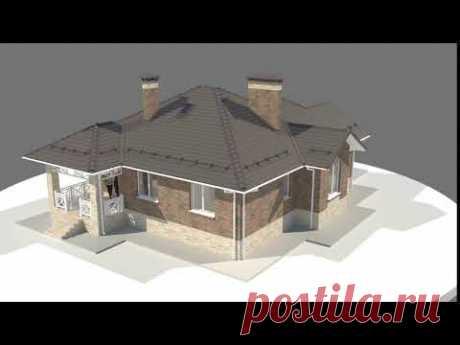 СКАЧАТЬ БЕСПЛАТНО проект одноэтажного кирпичного дома 135 м2. Мечта для дизайнера интерьеров