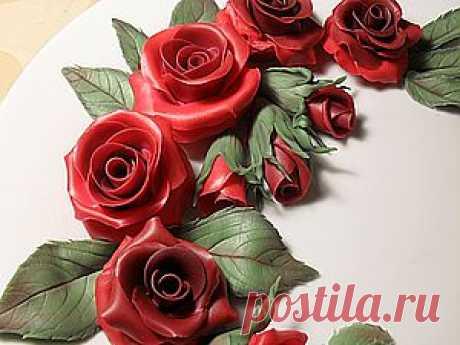"Мастер-класс ""Розы"" - Ярмарка Мастеров - ручная работа, handmade"