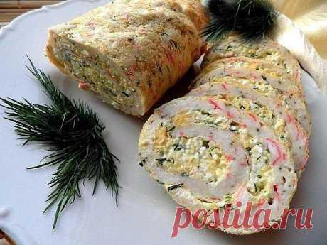 ТОП - 9 рецептов закусочных рулетов к новогоднему столу.