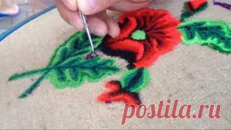Обучающий мастер класс по вышиванию Набивной ковровой иглой в техники PUNCH NEEDLE