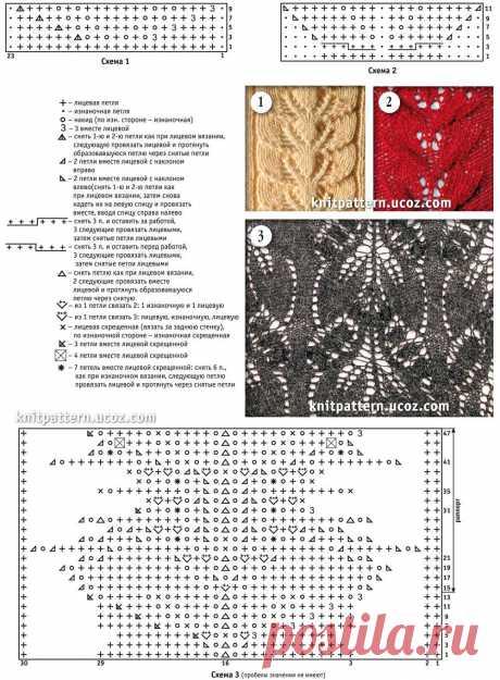 Страница №01. Вязаные спицами узоры и схемы. - 25 Мая 2013 - Коллекция узоров и схем для вязания спицами