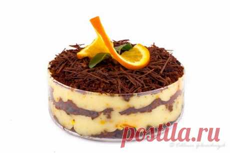 Шоколадно-апельсиновый десерт.