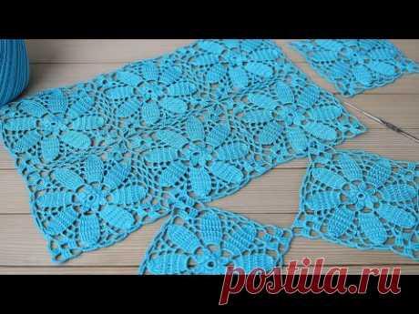 СОЕДИНЕНИЕ МОТИВОВ вязание крючком квадратные мотивы МАСТЕР-КЛАСС  Crochet flower motif patterns