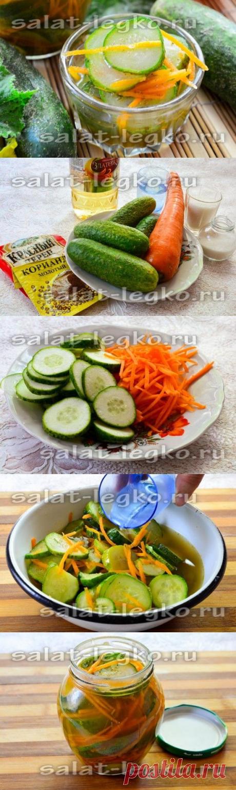 Огурцы по-корейски, самый вкусный рецепт на зиму без стерилизации