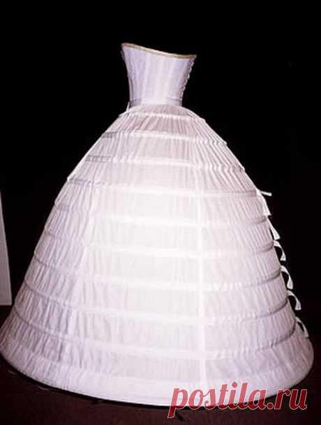 основа костюма 19 века - Корсет и кринолин