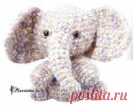 Слоник крючком - схемы вязания