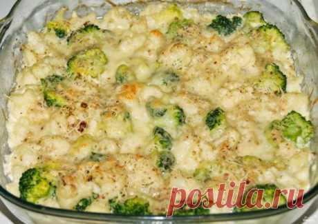 Цветная капуста и брокколи, запеченные в духовке - пошаговый рецепт с фото на Повар.ру