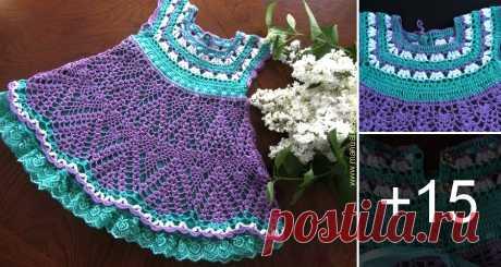 Hermoso Vestido en Crochet con Patrones para Niñas ⋆ Manualidades Y DIYManualidades Y DIY