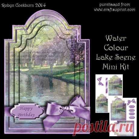 Water Colour Lake Scene Mini Kit