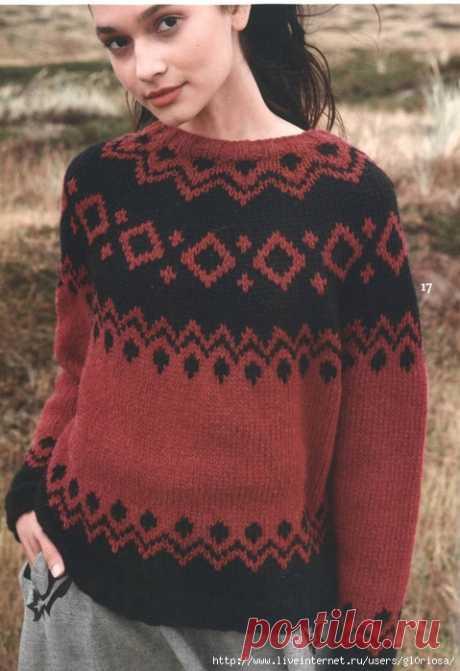 Жаккардовый свитер (Лопапейса)