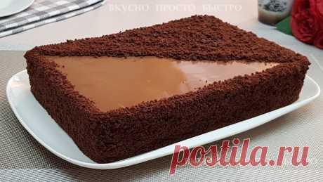 Без духовки на сковороде. Невероятно вкусный шоколадный торт Рижский