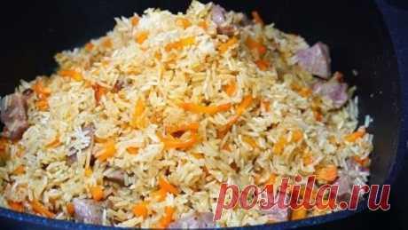Рис с мясом. Это всегда беспроигрышный обед или ужин!