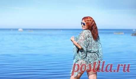 Что надеть на пляж полной женщине: фото модных и стильных образов