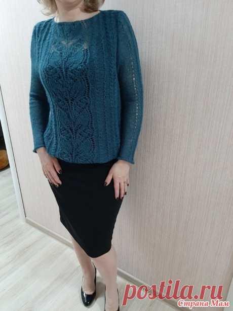 Пуловер спицами (добавила схемы) - Вязание - Страна Мам