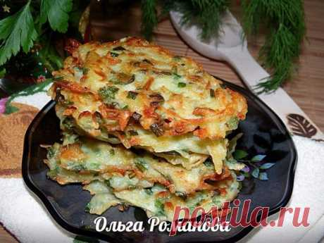 Such tasty and fragrant hash browns with green onions and garlic