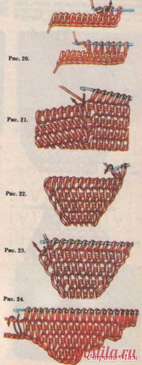 Ценное подробнейшее пособие новичкам по тунисскому вязанию - часть 1