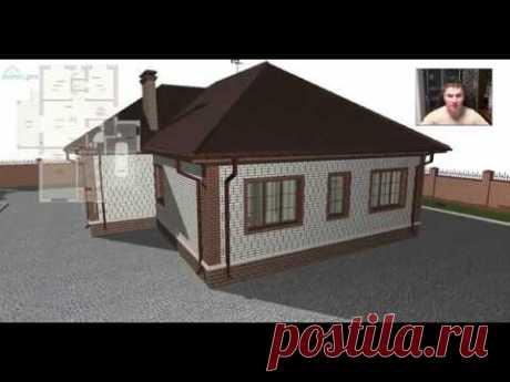 Проект без коридорного одноэтажного дома с гаражом «Альметьевск» C-394-ТП